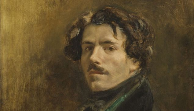 Delacroix, Self-Portrait with Green Vest, ca 1837.