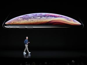 Tim Cook debuted three new iPhones at Apple's annual launch event on Wednesday.