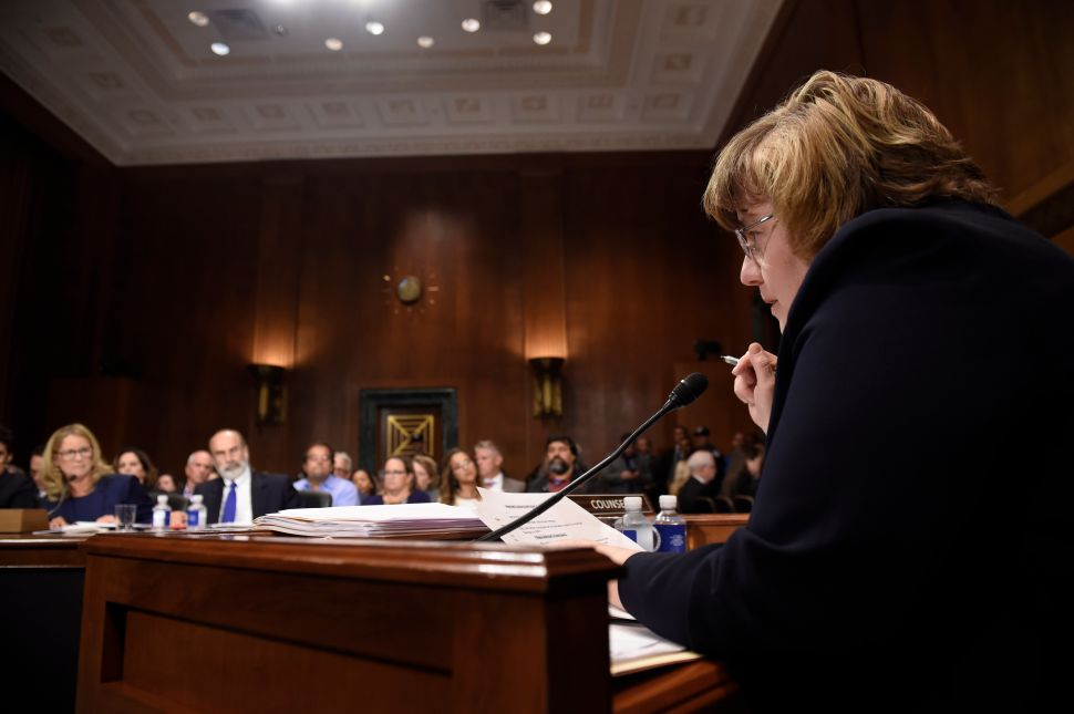 GOP's 'Female Assistant' Rachel Mitchell Pokes Holes in Her Own Cross-Examination