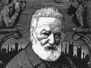 French poet and writer Victor Hugo, drawn by R Boyden (1865 - 1939).