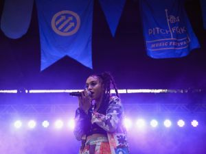FKA Twigs performs at the Pitchfork Music Festival in 2014.