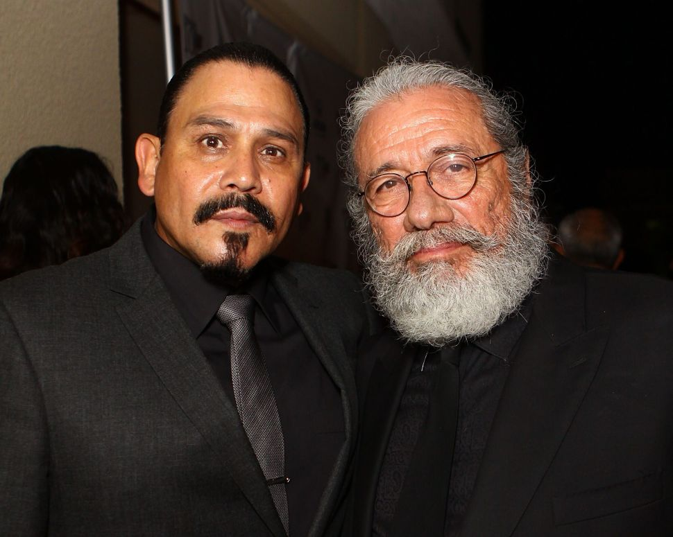'Mayans MC' Stars Edward James Olmos and Emilio Rivera Talk Violence and Stereotypes on TV