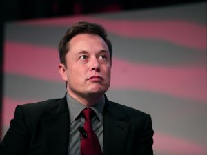 Tesla CEO Elon Musk at the Detroit Auto Show in January 2015.