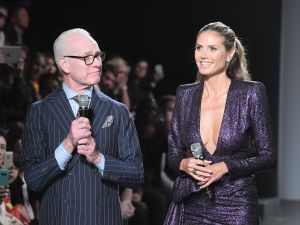 Tim Gunn and Heidi Klum.