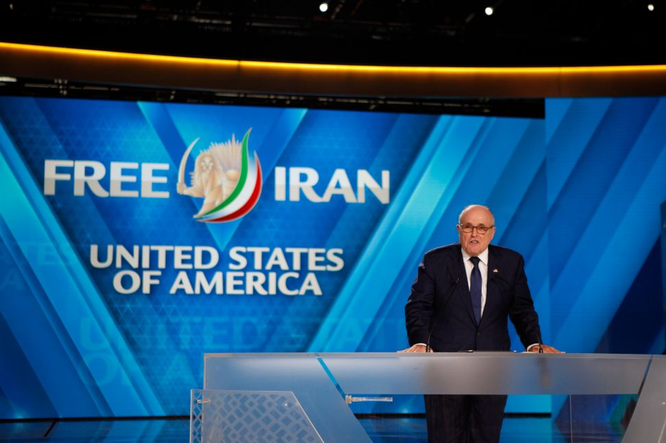 Rudy Giuliani Tells Observer Why He Supports 'Death to Khamenei' Iran Faction