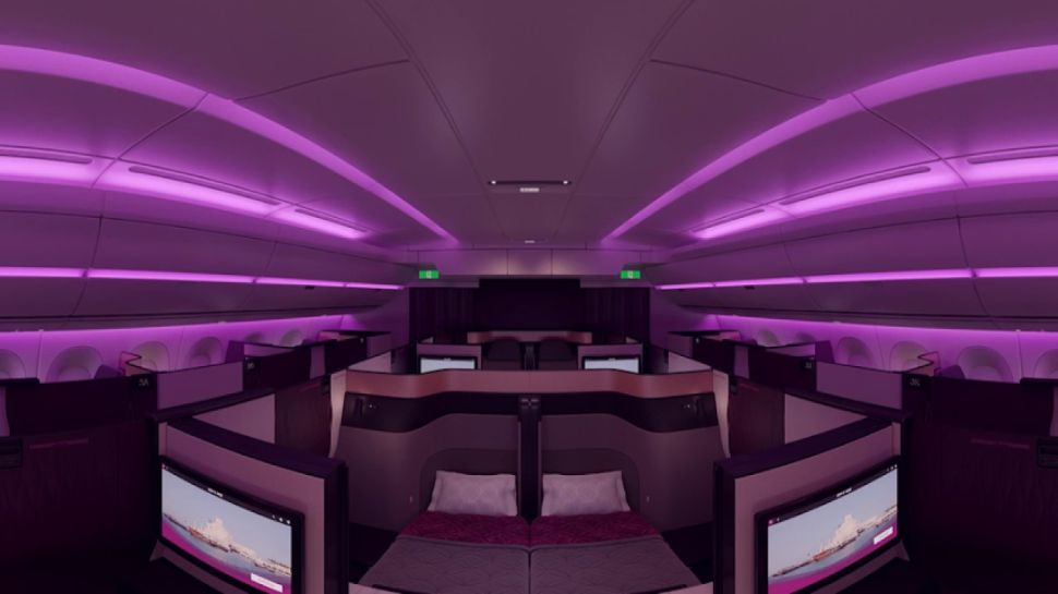 Double Beds and Nightclub Lights: Qatar Airways' Luxury Airbus Lands in America