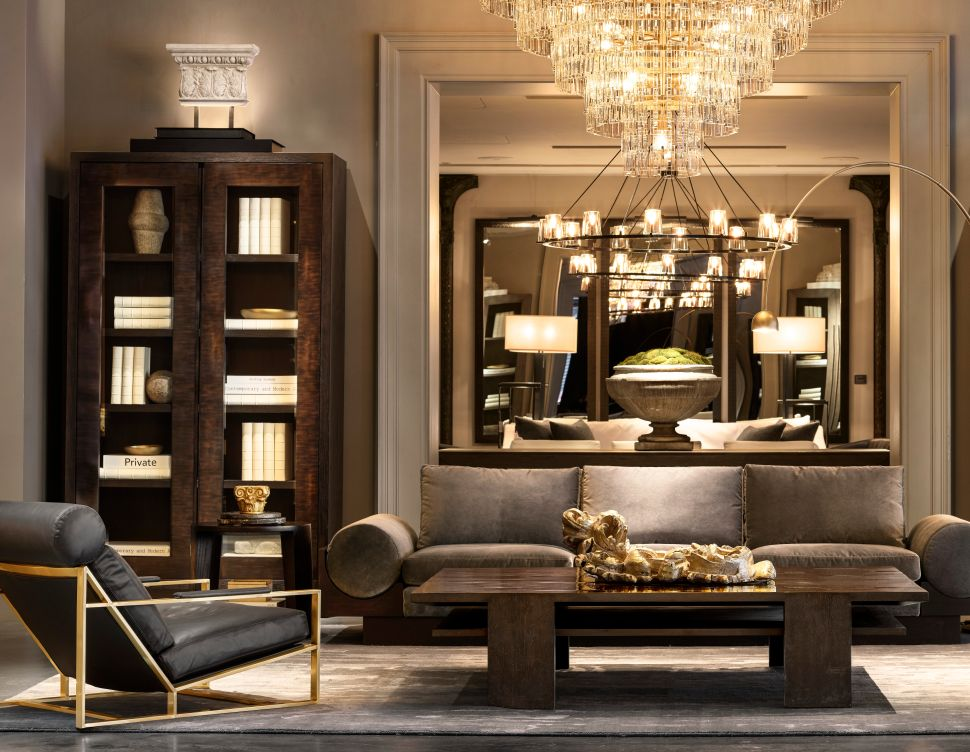 The New Restoration Hardware Gallery Is a Cross Between an Upscale Mall and a Haunted Mansion