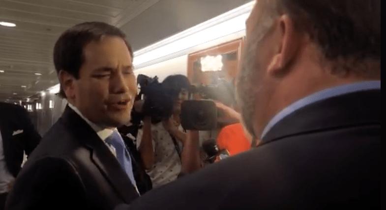 Marco Rubio Calls Alex Jones a Clown: 'Don't Touch Me Again!'