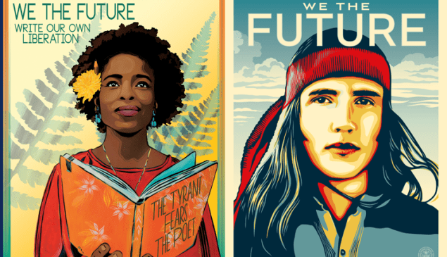 Posters created for the campaign We the Future.