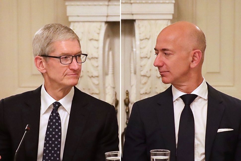 After October Stock Rout: Apple Holds Strong at $1T, Amazon Shrinks By a Quarter