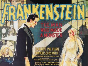 Carl Laemmle Presents Frankenstein: The Man Who Made a Monster, 1931 poster.