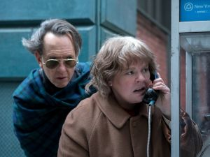 "Richard E. Grant as ""Jack Hock"" and Melissa McCarthy as ""Lee Israel"" in CAN YOU EVER FORGIVE ME?"