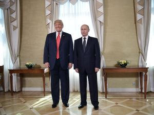 President Donald Trump and President Vladimir Putin ahead of their meeting in Helsinki.