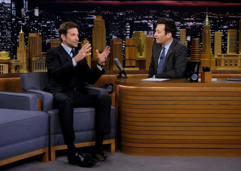 Bradley Cooper and Jimmy Fallon Think They Are Really, Really Funny on 'The Tonight Show'