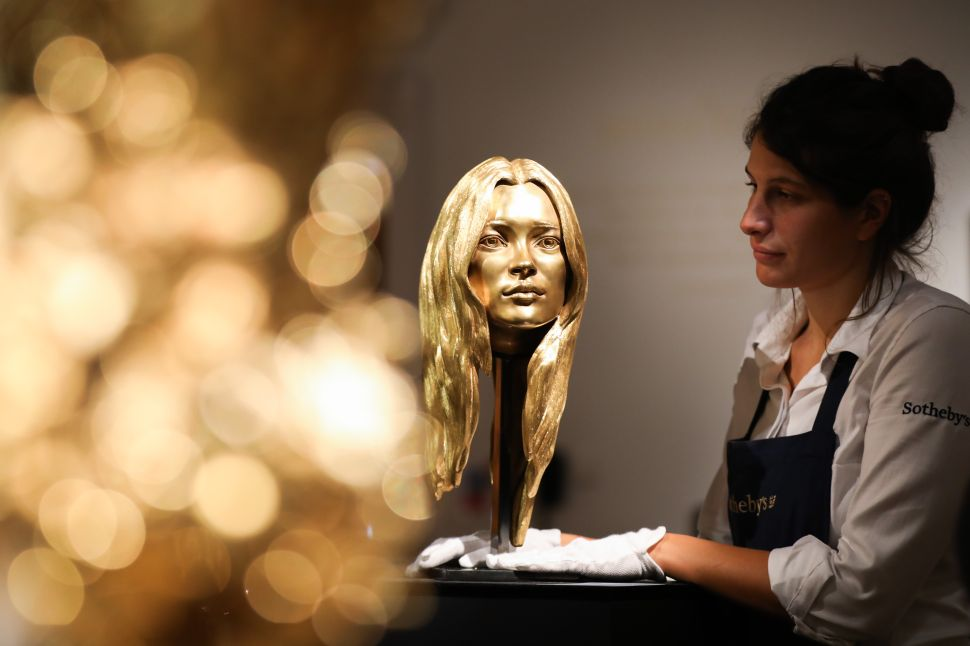 Sotheby's Sold a Sculpture of Kate Moss for $370,000 at Its First All-Gold Auction