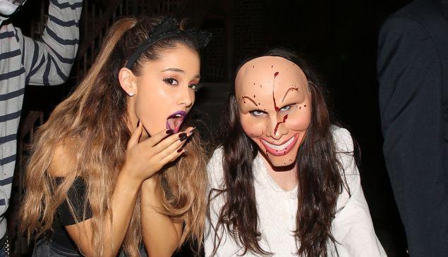 Ariana Grande celebrating Halloween in 2014.
