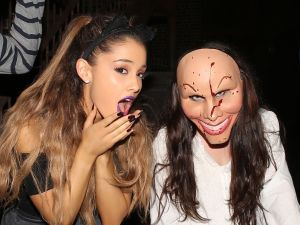 Ariana Grande celebrating Halloween in 2014.