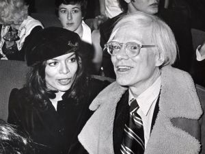 Bianca Jagger and Andy Warhol at Studio 54.