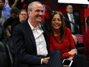 Gov. Phil Murphy with his wife Tammy.