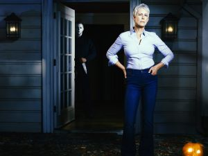 Jamie Lee Curtis returns to her iconic role as Laurie Strode in HALLOWEEN