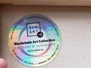 A seal provided by Blockchain Art Collective.