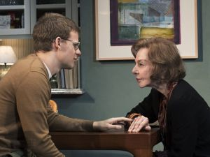 Lucas Hedges and Elaine May.