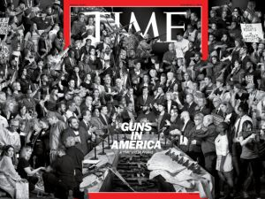 The Cover of Time Magazine's 'Guns in America' feature.
