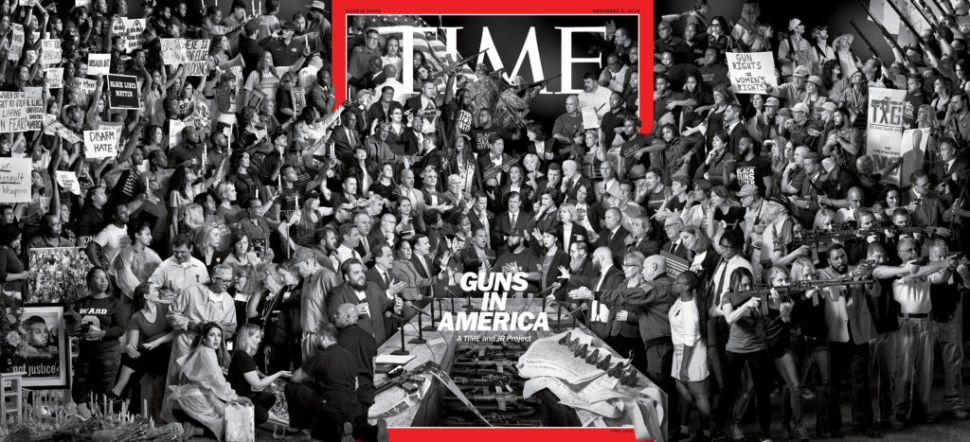 The Creator of 'Time' Magazine's Cover About US Gun Control Is French. Here's Why That Matters.