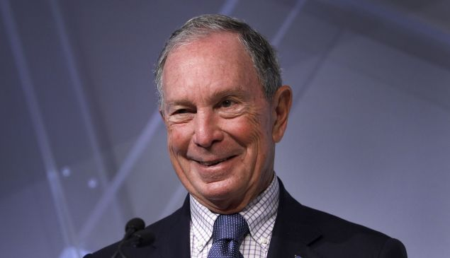 Michael Bloomberg's first donation to Johns Hopkins was $5.