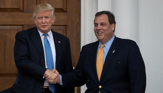 President Donald Trump and former New Jersey Governor Chris Christie
