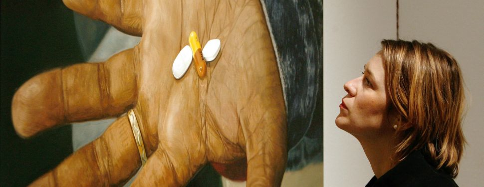 Damien Hirst's oil on canvas painting 'HIV AIDS, Drugs Combination.'