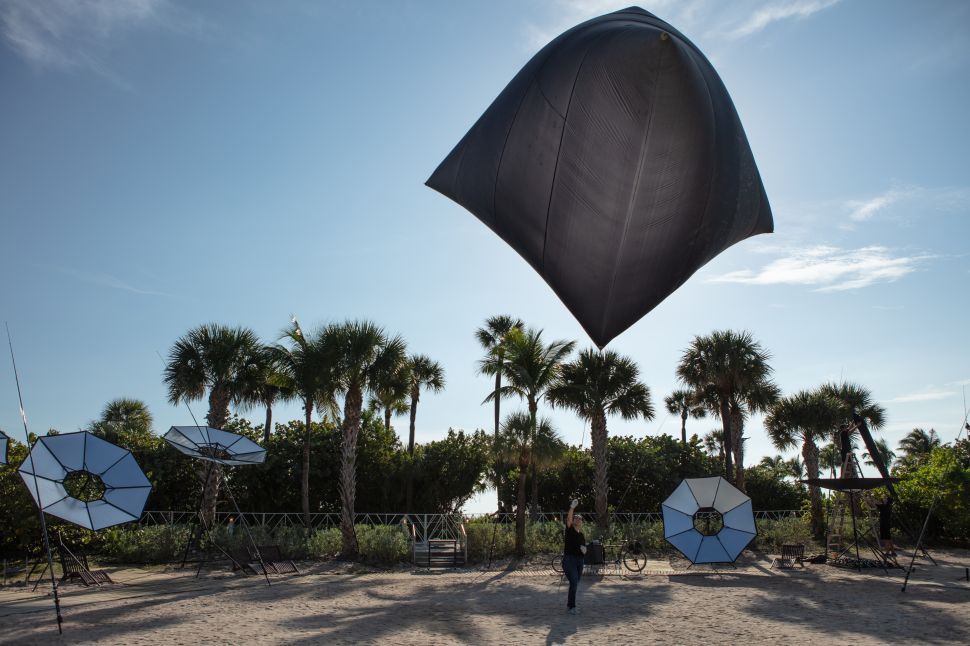 An Artist at Art Basel Is Telling Fairgoers to Go Fly a Kite (Literally) and Start Using Solar Power