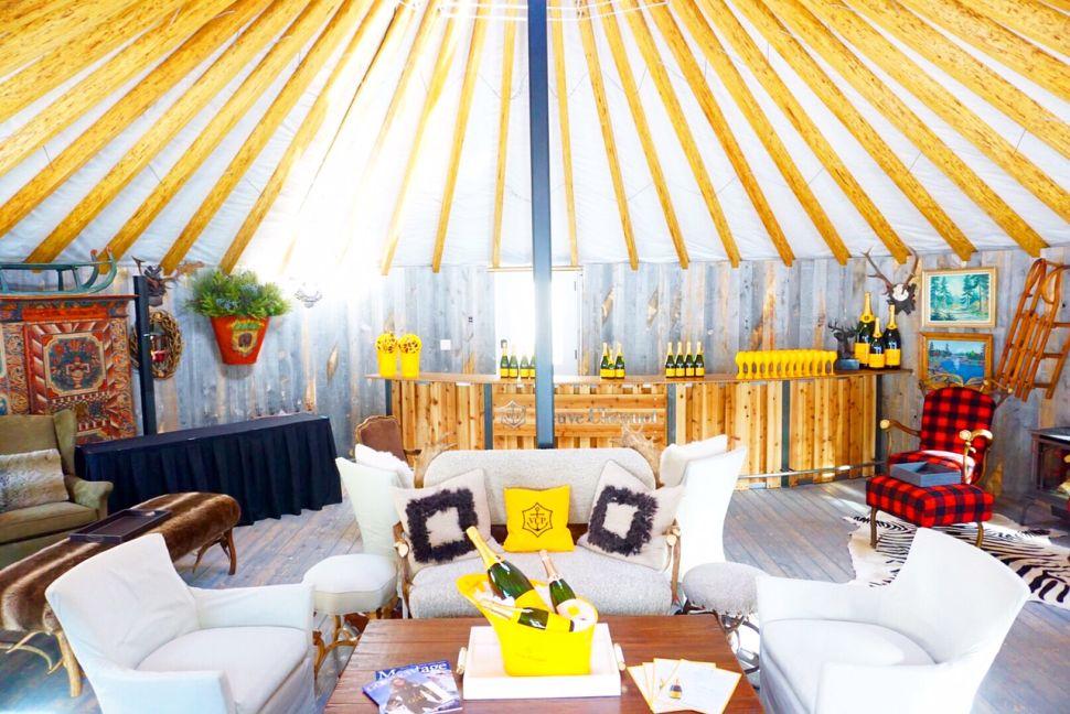 Over Dull, Regular Yurts? Try Veuve Clicquot's Park City Champagne Yurt