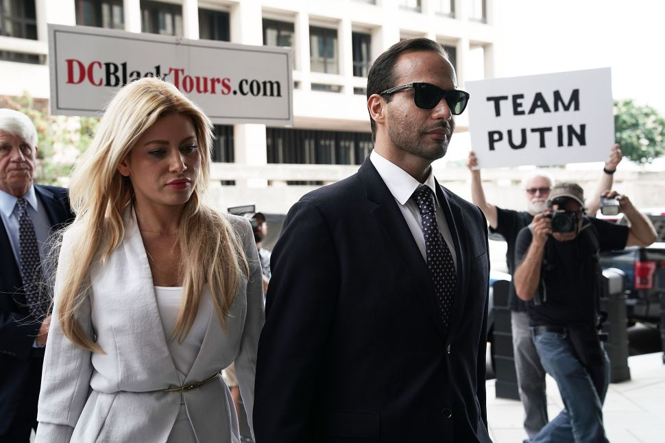 George Papadopoulos Celebrates Prison Release With Lover's Quarrel and Mike Cernovich