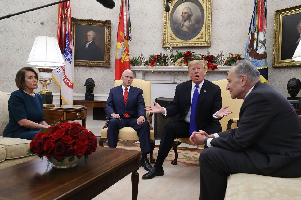 Trump's Latest Temper Tantrum: President Reportedly Threw Papers After Schumer-Pelosi Showdown