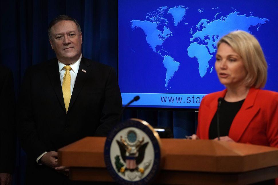Bolton and Pompeo Push to Downgrade UN Ambassador Role to Control Heather Nauert