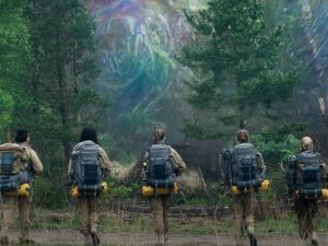 Gina Rodriguez, Tessa Thompson, Tuva Novotny, Natalie Portman and Jennifer Jason Leigh in 'Annihilation.'