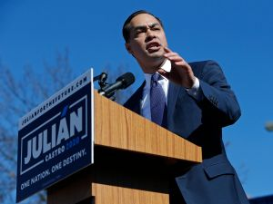 Julian Castro, former U.S. Department of Housing and Urban Development (HUD) Secretary and San Antonio Mayor, announces his candidacy for president in 2020.
