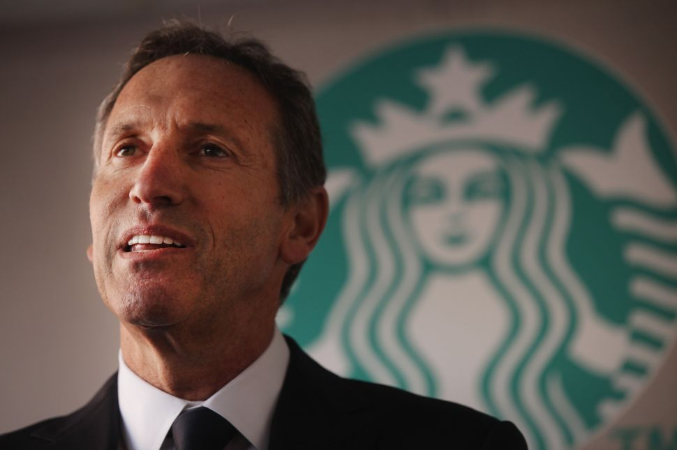 Bootlickers Assemble! Howard Schultz' Media Elite Base Emerges