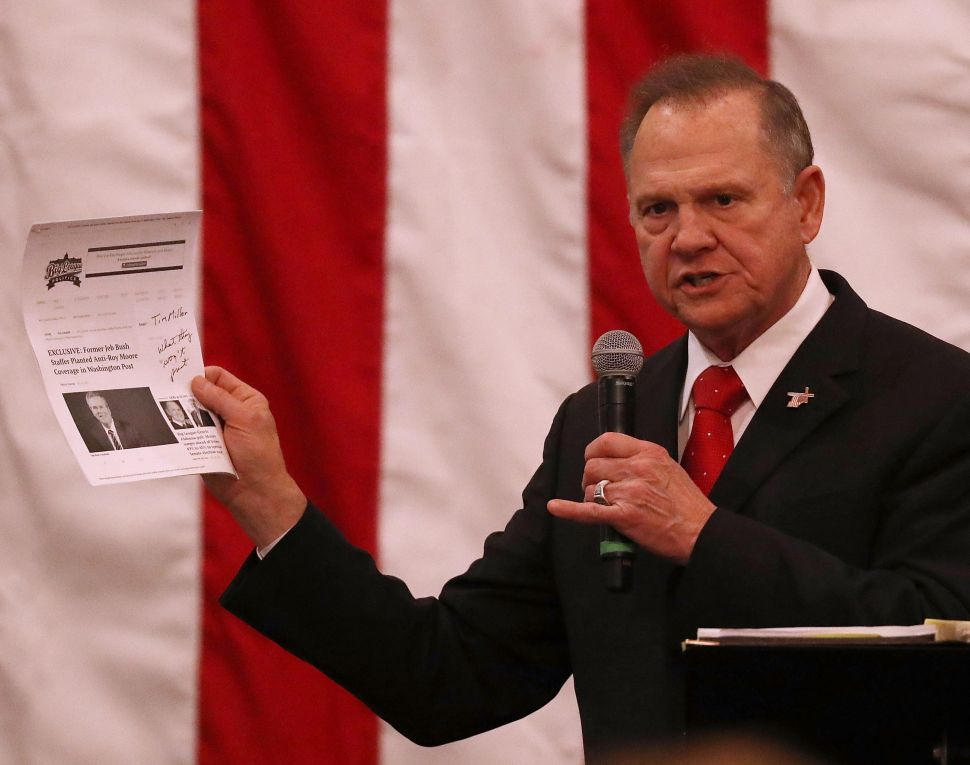 Progressives Pushed Fake 'Dry Alabama' Campaign to Tie Roy Moore With Prohibition