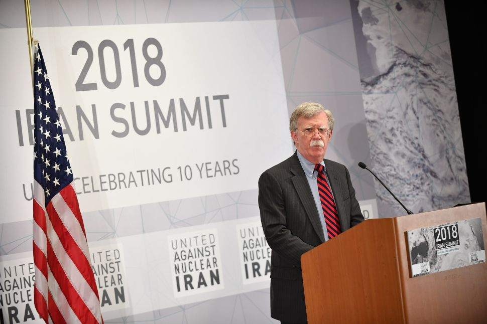 John Bolton Keeps the Executive Order Terminating the Iran Deal Framed on His Wall