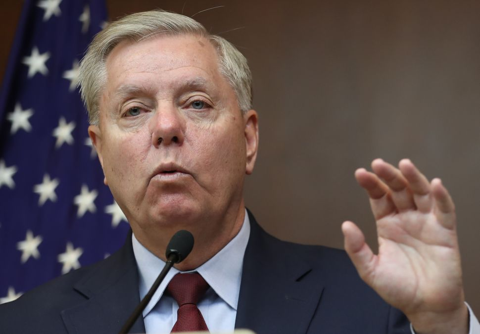 Lindsey Graham Declares Himself an 'Adversary' to Trump's Syria Plan in Explicit Rant