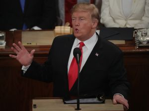 President Donald Trump State of the Union TV Ratings Super Bowl Oscars