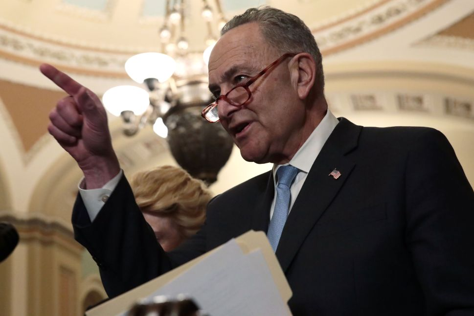 Chuck Schumer Calls Mitch McConnell's Bluff on Green New Deal Vote: 'Bring It On'
