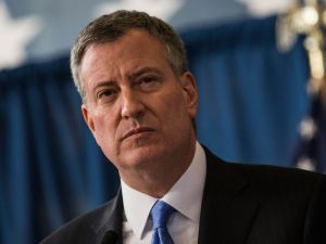 New York City Mayor Bill de Blasio.