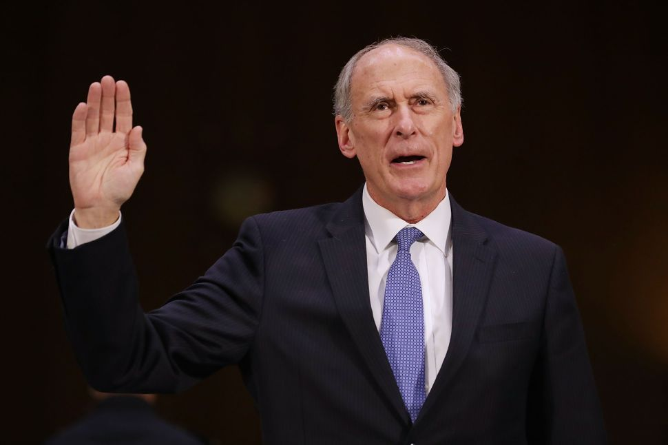 Trump Is 'Enraged' With Dan Coats for Undercutting His North Korea 'Policy Goals'