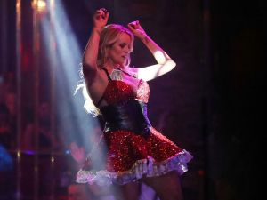 Stephanie Clifford, who uses the stage name Stormy Daniels, performs at the Solid Gold Fort Lauderdale strip club on March 9, 2018 in Pompano Beach, Florida.