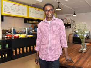 Pierre Thiam, originally from Senegal, is the chef owner of Teranga, the new West African cafe in New York City.
