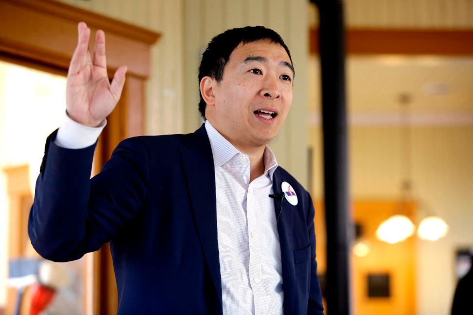 Andrew Yang Claims Universal Income Can Curb the Racism of His White Nationalist Fans
