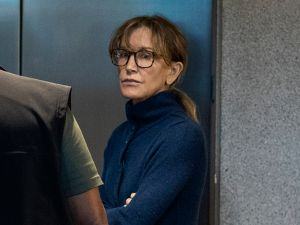 Actress Felicity Huffman is seen inside the Edward R. Roybal Federal Building and U.S. Courthouse in Los Angeles, on March 12, 2019. She is among 50 people indicted in a nationwide university admissions scam, court records unsealed in Boston on March 12, 2019 showed.